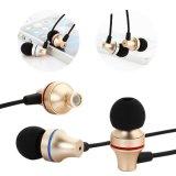 Écouteurs en micro plaqué or avec écouteurs intra-auriculaires avec microphone