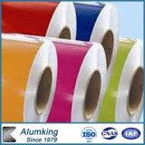 PE PVDF Prepainted катушка покрынная цветом алюминиевая