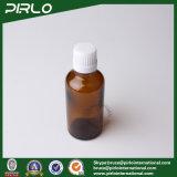 bottiglie di vetro ambrate 50ml con il coperchio a vite evidente e bianco del compressore