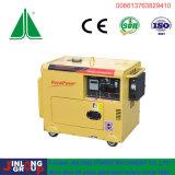 Generador portátil 5 kW refrigerado por aire silencioso Diesel
