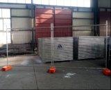 Temporärer Stahlzaun mit Klammer-und Oberseite-Schellen