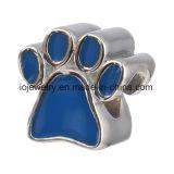 Custom Paw Print Bead Coeur Forme