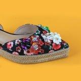 Mesdames fait Toe Espadrilles Flatform Sequin sandales pour les femmes