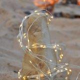 銀製ワイヤー暖かく白いマイクロLEDロープの滝ストリングライト