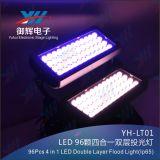 96*3W impermeabilizzano la doppia testa RGBW 4 in 1 indicatore luminoso della lavata della parete del LED