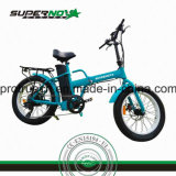 Bicyclette électrique se pliante de gros pneu inférieur