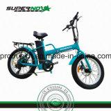 Bicicleta eléctrica plegable del neumático gordo inferior
