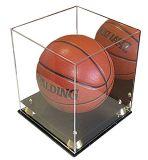 O preto baseou o caso de indicador acrílico do basquetebol
