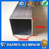 Perfil de alumínio anodizado da extrusão da câmara de ar retangular de prata do quadrado da liga de alumínio