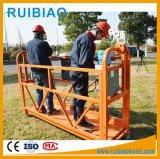 Construção plataforma suspensa para manutenção de fachadas