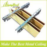 2018 горячая продажа деревянные Металлические полосы алюминия подвесной потолок