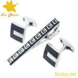 Tieclip-021 316L Spelden en Cufflinks van de Band van het Roestvrij staal voor de Mens