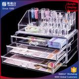 Organizzatore libero acrilico di trucco con tre cassetti