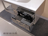 Aço 304 inoxidável que pendura o projeto da porta do banheiro do PVC