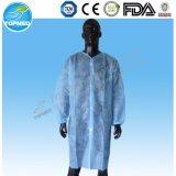 綿によって編まれる袖口が付いているSMSの病院の実験室のコート