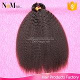Queratina U Dica Cabelo peruano 1 Grama Cada Strand Uña Dica Fusão Extensão do Cabelo Humano Peruvian Kinky Straight Virgin Hair