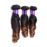 Выдвижение человеческих волос цвета тона Ombre 2 весны курчавое