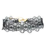Handmade конструкция дворца вязания крючком выдалбливает вне цветет ожерелье чокеровщика готское для женщин