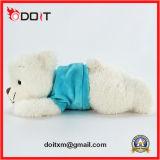 Jouet de peluche bourré par jouet bleu de peluche d'ours de sommeil de chemise