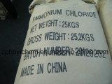 chlorure industriel d'Ammonum de pente de 2-4mm avec le sac de papier d'emballage