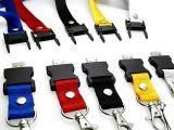 さまざまなカラーの締縄の形USBのフラッシュ駆動機構