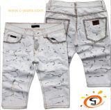 Moda Jeans Shorts pantalones cortos de algodón blanco