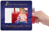 Foto-Rahmen-Mausunterlage mit der kundenspezifischen Abbildung eingeschoben