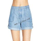 Stock pantalones jeans de mujer, la dama jeans, pantalones cortos (14163)