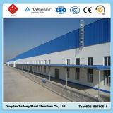 Almacén de dos pisos de la estructura de acero del bajo costo