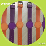 Couleurs de Mutil de montre-bracelet de l'IDENTIFICATION RF Wra11, flexibles, épreuve de l'eau (GYRFID)