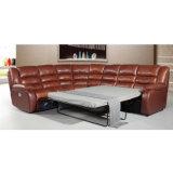 Sofá secional de estilo europeu reclinável 6035c