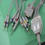 Blei des Burdick Einteiler-10 mit Verschluss EKG Cableds