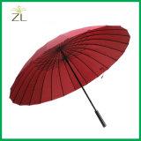 Le logo personnalisent le parapluie droit de vente en gros bon marché promotionnelle de pluie
