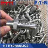 Montaggio di tubo flessibile idraulico del doppio di uso 10611 connettore maschio metrico del tubo