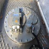 Tri-Axle 46000L Aluminum Alloy Tank Semi Trailer mit 6 Tires