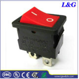 Dpst 4 clavijas 12un doble empuje Mini Micro interruptor basculante