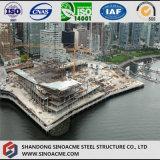 Costruzione dell'hotel della stella della struttura d'acciaio cinque di disegno moderno