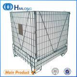 Gaiola segura de empilhamento Foldable do metal do armazenamento