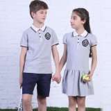 Baumwolle 100% Polo Shirt für School Boys und Girls Name Embroidery Schuluniform Polo
