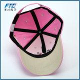 Sport-Baumwollbaseballmütze mit Metallfaltenbildung