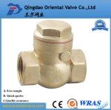 Válvula de verificação de bronze da mola da alta qualidade do preço de fábrica Dn15 com núcleo de bronze