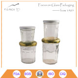 Vaso di vetro di Octangle con la protezione del metallo per scopo di imballaggio per alimenti