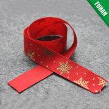 Оптовая торговля рождественских подарков логотип полиэфирной ленты