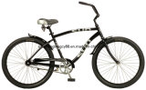 """أسود 26 """" شاطئ درّاجة مع راحة وسرج كبير ([ش-بّ039])"""