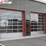 速い自動機密保護のアルミニウム部門別のガラス見通しシャッタードア