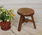 كرسيّ مختبر صلبة خشبيّة مستديرة ([م-إكس2115])