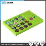 Botão de Bebé coloridas personalizadas brinquedo musical com controle remoto