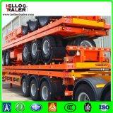 Fuwaの三車軸平面容器のトレーラーを運ぶ60トンの容器