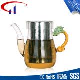 Agradable calor de alta calidad resistente a la tetera de vidrio borosilicato (CHT8143)