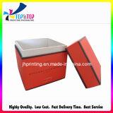 Бумага красного цвета сделала крышку и основание трудная коробка свечки